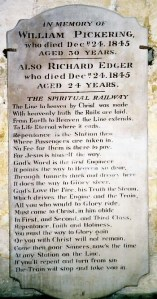 spiritual railway tombstone close
